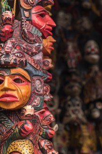 Rituelle Maya-Masken.
