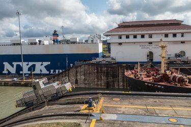 Miraflores-Schläusen am Panama-Kanal.