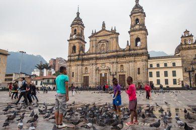 Auch Bogota hat seinen Dorfplatz.