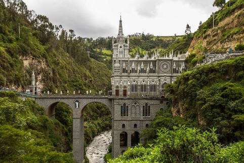 Die weltberühmte Kirche von Las Lajas. Spektakuläre Lage!