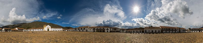Berühmter Dorfplatz in Villa de Leyva.