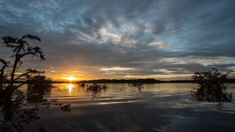 Schön war's: Sonnenuntergang über der grossen Lagune.