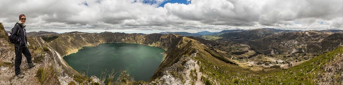 Tolle Wanderung um die Laguna Quilotoa. Sieht kürzer aus als es war.