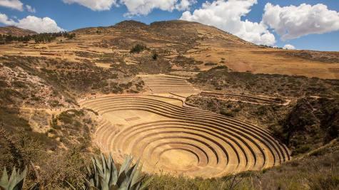 Moray: Eine Inka-Versuchsanlage für den Kartoffel- und Quinoa-Anbau.