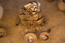 Schon länger tot: Im Sandigen Boden konservierte Mumie.
