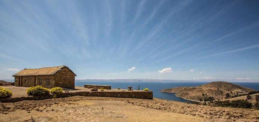 Wer möchte hier nicht wohnen? Isla del Sol im Titicacasee.