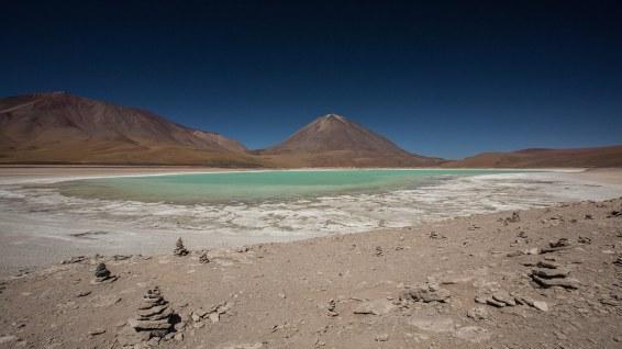 Die Laguna Verde ist eigentlich Azul.