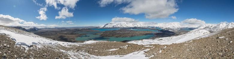 Cerro Leon: toller, jedoch extrem windiger Aussichtspunkt.
