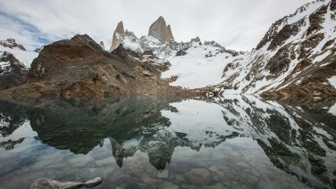 Hier der Beweis: in Patagonien kann es tatsächlich auch mal windstill sein.