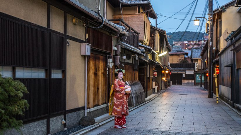 Eher selten sieht man(n) eine 'richtige' Geisha.