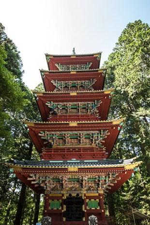 Die Fünf-Stöckige Pagode von Nikko.