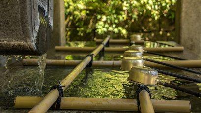 Eine zeremonielle Reinigung bereitet auf den Tempelbesuch vor.