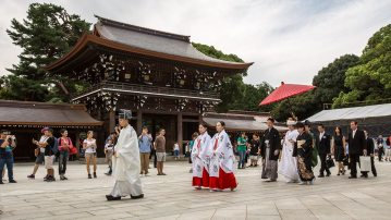 Traditionelle Hochzeit in einem Tempel.