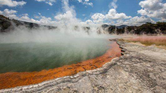 Die heissen Quellen von Rotorua.