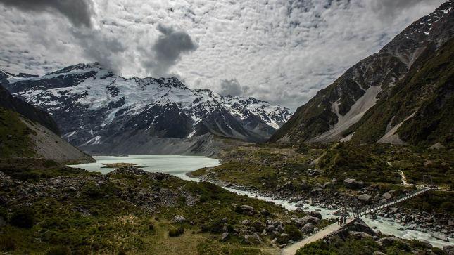 Die Wanderung zum Mount Cook…