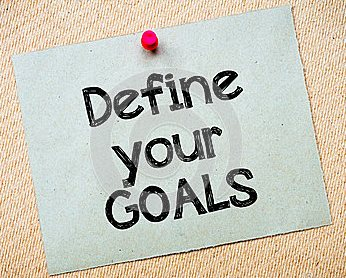 define-your-goals-message-recycled-paper-note-pinned-cork-board-concept-image-52029192