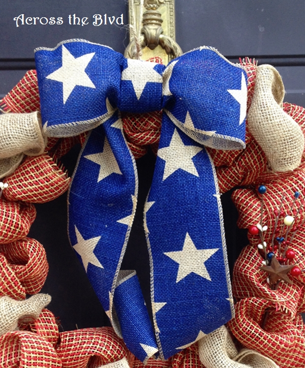 Patriotic Wreath Bow