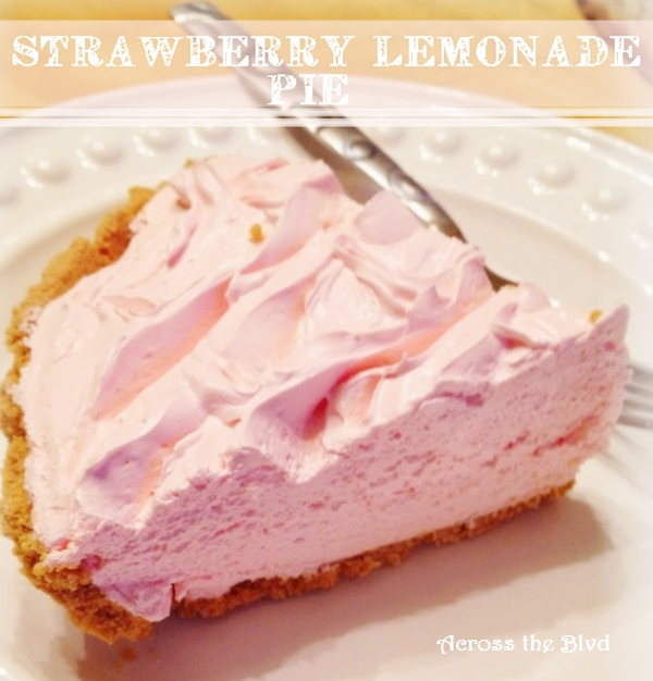 Strawberry Lemonade Pie Across the Blvd
