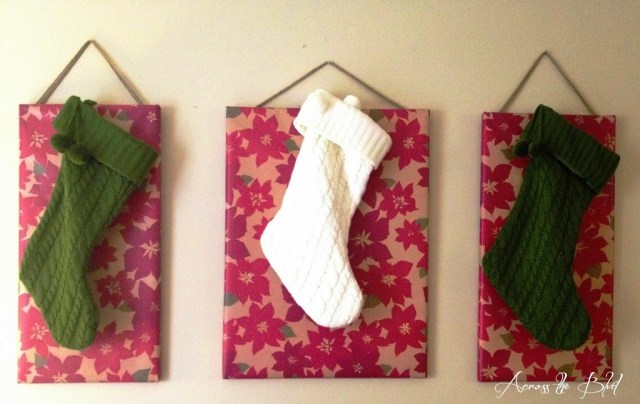 ways to hang stockings without a mantel