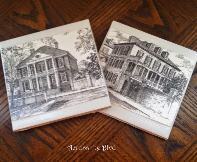 Mod Podge Charleston Coasters