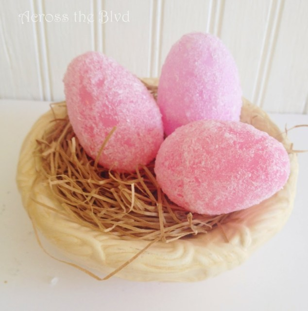 Faux Sugar Eggs