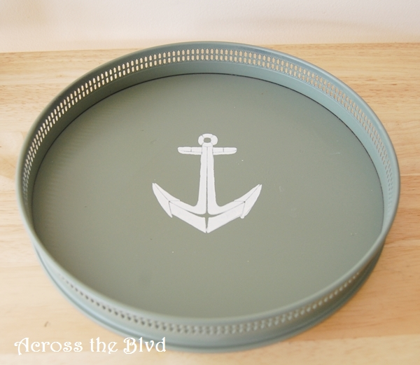 nautical tray makeover