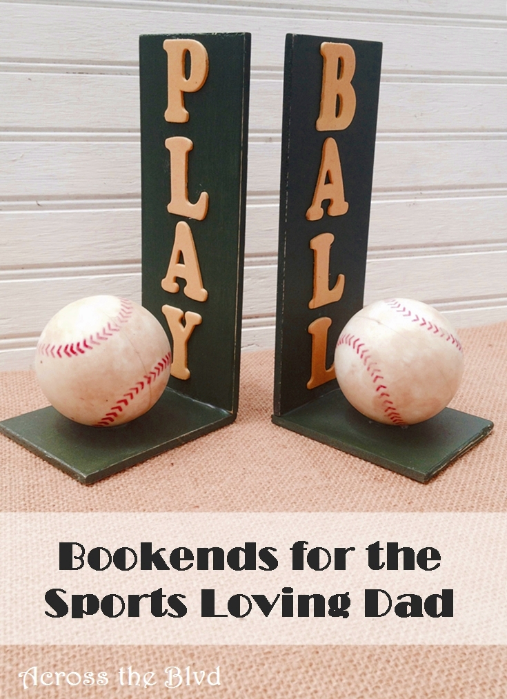Baseball Bookends//Gift for Dad//Across the Blvd
