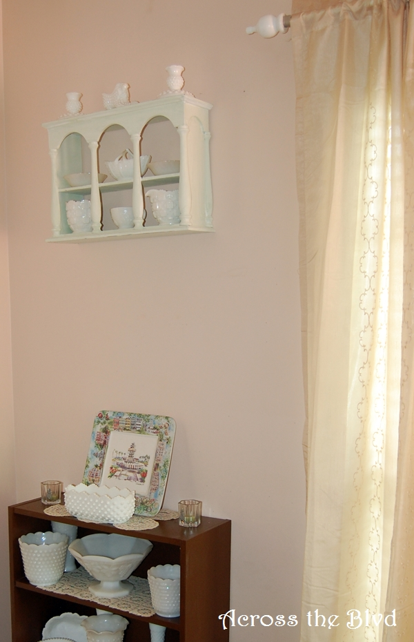 Wall curio makeover using DIY Chalk Paint