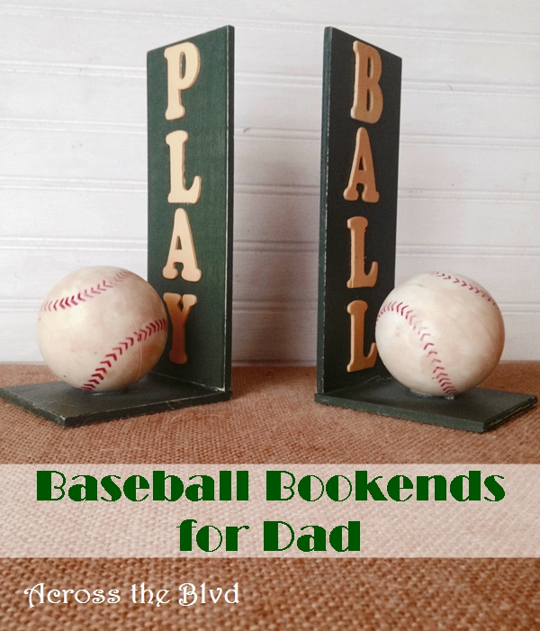 baseball bookends for dad