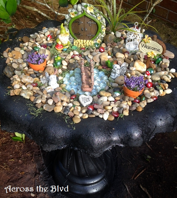 Bird Bath Fairy Garden