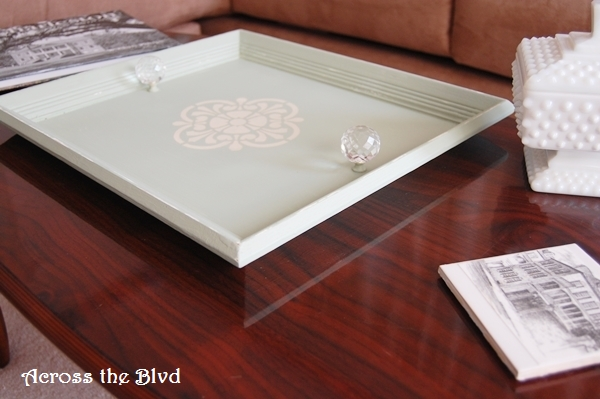 Chalk Paint Coffee Table Tray