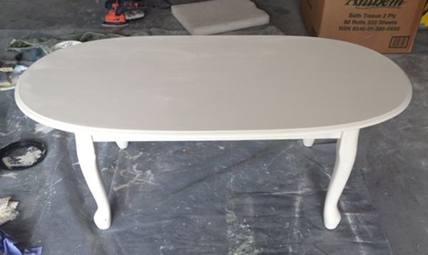 coffee table first coat