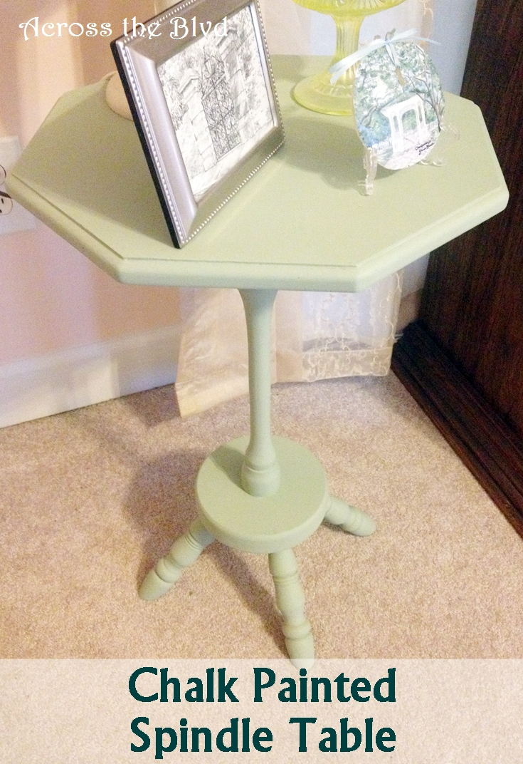 Chalk Painted Spindle Table