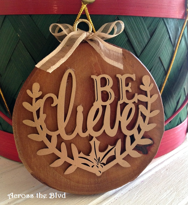 Rustic and Glam DIY Ornament Across the Blvd