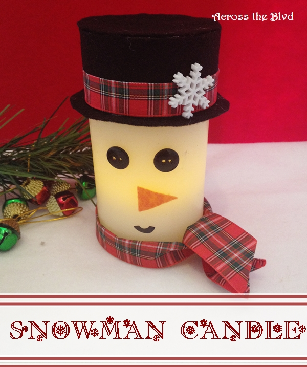 Snowman Candle Across the Blvd