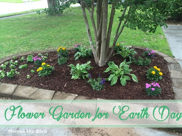 Flower Garden for Earth Day Across the Blvd