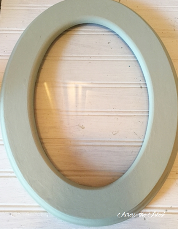 thrift store oval frame