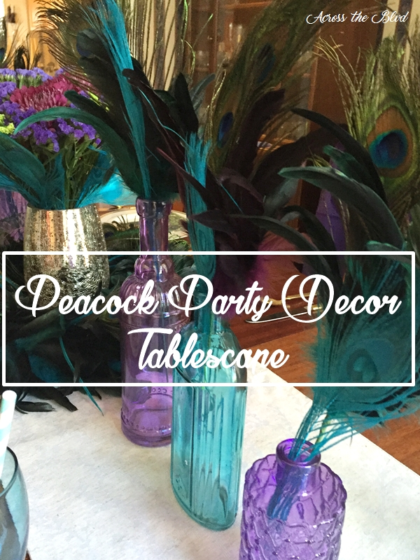 Peacock Party Tablescape