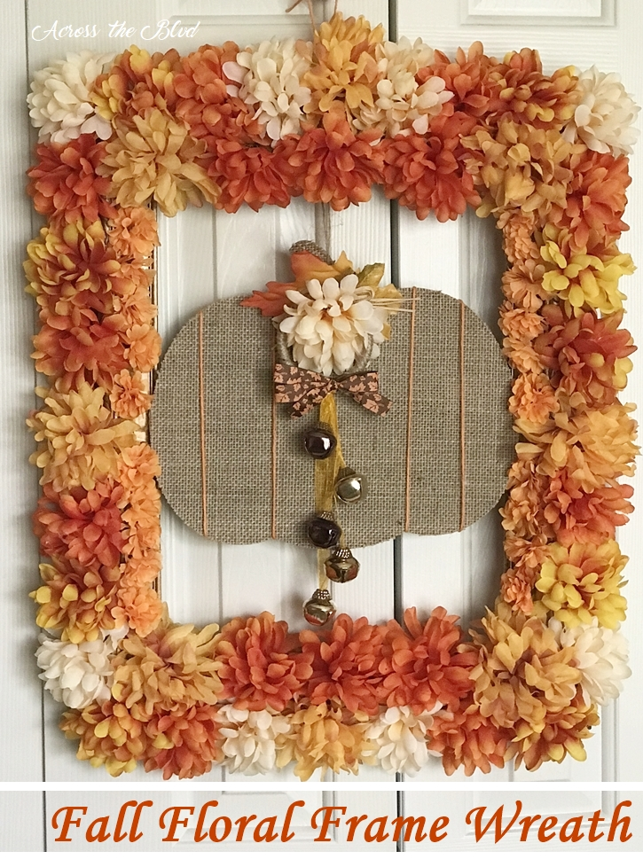 Fall Floral Frame Wreath Across the Blvd
