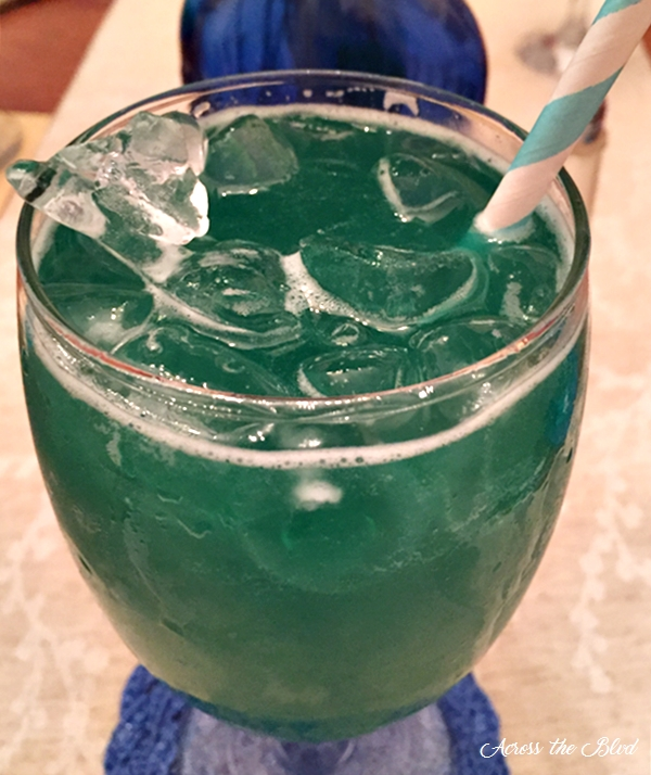 Peacock Cocktail with Midori Across the Blvd