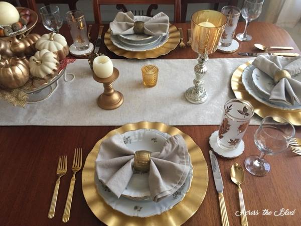 Thanksgiving Dining Room Place Setting