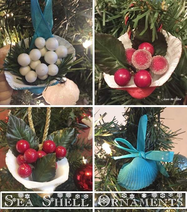 Sea Shell Berry Basket Ornaments