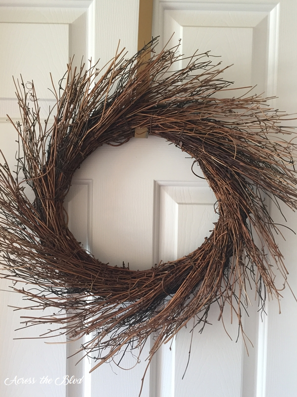 brown straw wreath