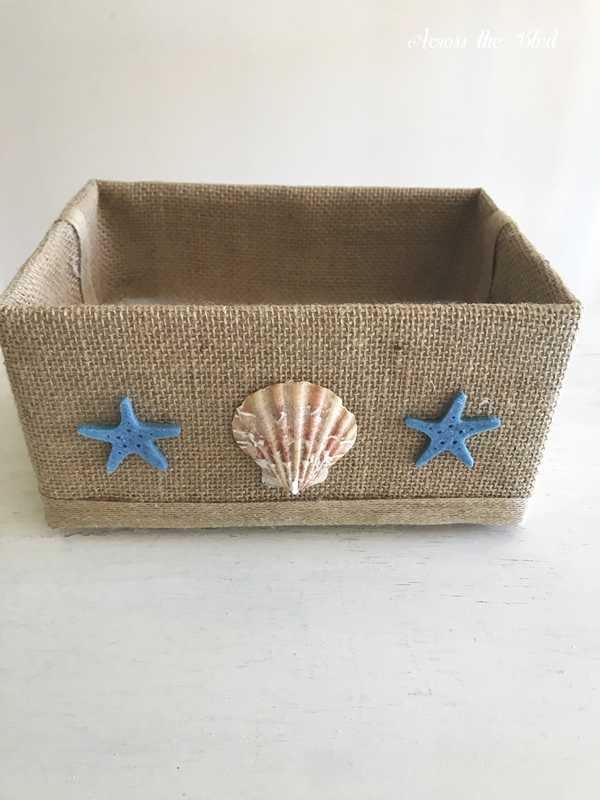 Coastal Box for Saving Receipts Shells