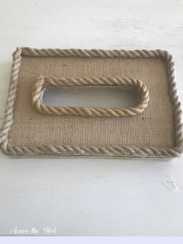 Coastal Box for Saving Receipts Rope