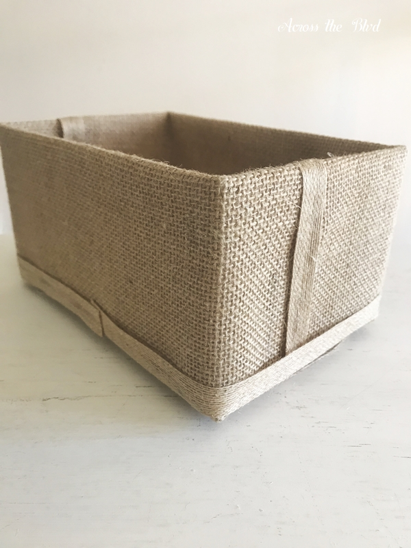 Coastal Box for Saving Receipts burlap wrap