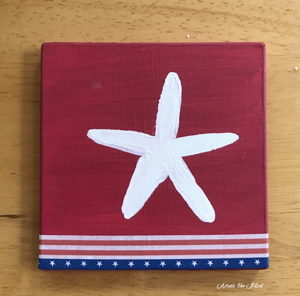 Patriotic Starfish Coasters