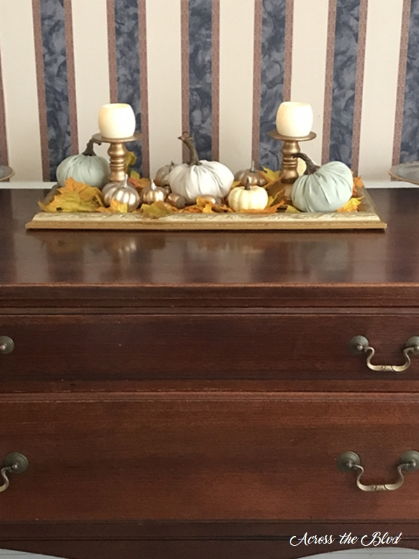 Simple & Budget Friendly Fall Decor on buffet
