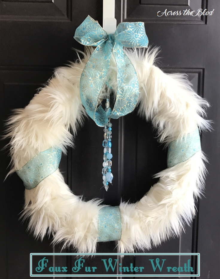 Faux Fur Winter Wreath Across the Blvd