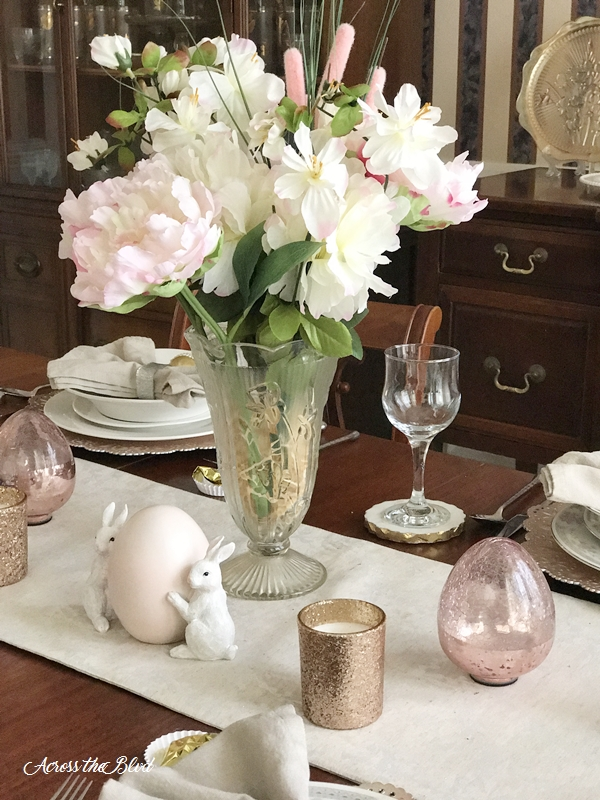 Easter Tablescape Across the Blvd